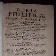 Libros antiguos: CURIA PHILIPICA - JUAN DE HEVIA BOLAÑOS - 1790. Lote 205351427