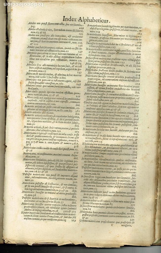 Libros antiguos: SPECULUM TESTAMENTORUM THESAURUS DOCT D.ESPINO DE CÁCERES SALAMANCA ACADEMIA VENETIIS 1598 PERGAMINO - Foto 4 - 146343534