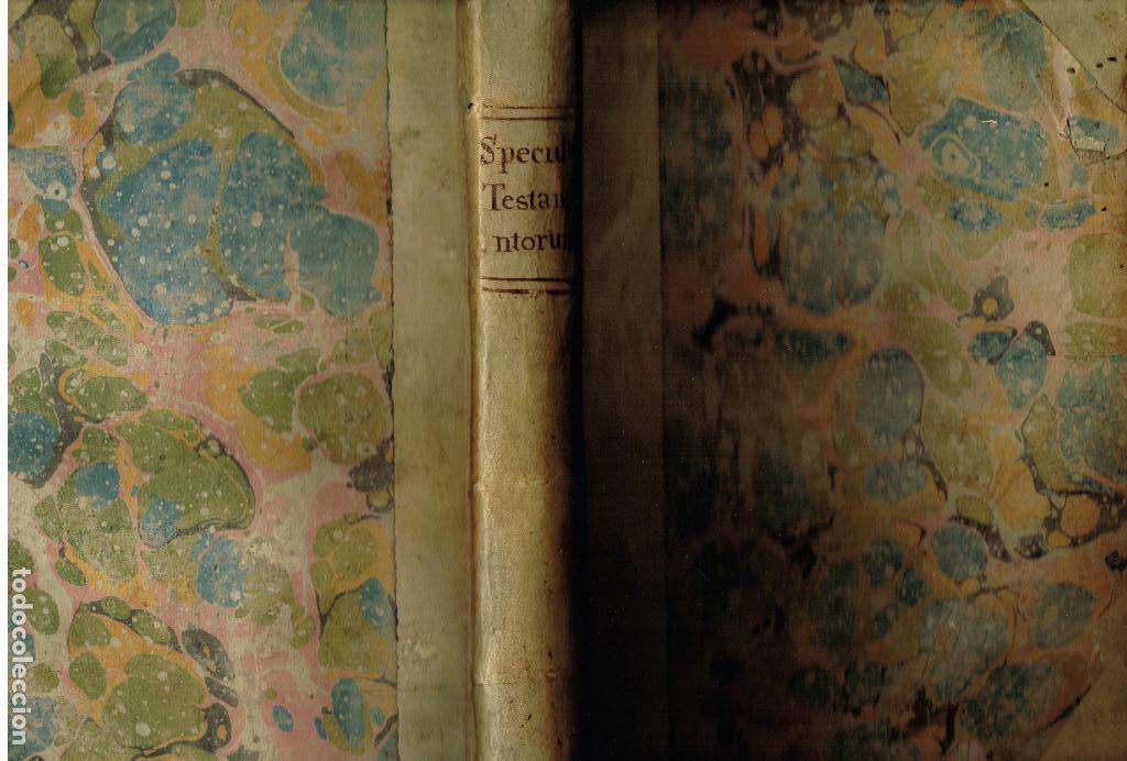 Libros antiguos: SPECULUM TESTAMENTORUM THESAURUS DOCT D.ESPINO DE CÁCERES SALAMANCA ACADEMIA VENETIIS 1598 PERGAMINO - Foto 8 - 146343534