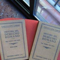 Libros antiguos: ROBERT VON MAYR, HISTORIA DEL DERECHO ROMANO (TOMOS I Y II). Lote 135887286