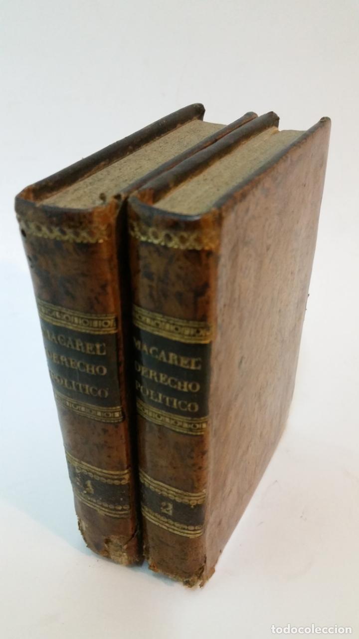 1843 - MACAREL - ELEMENTOS DE DERECHO PÚBLICO Y POLÍTICO. 2 TOMOS (OBRA COMPLETA) (Libros Antiguos, Raros y Curiosos - Ciencias, Manuales y Oficios - Derecho, Economía y Comercio)
