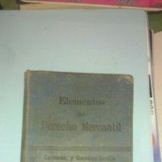 Libros antiguos: DERECHO MERCANTIL DE ESPAÑA. DERECHO MERCANTIL INTERNACIONAL. CARRERAS Y REVILLA. 1910. Lote 146638034