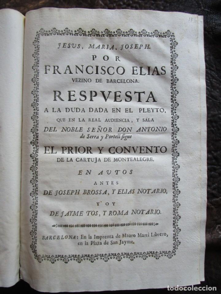 Libros antiguos: libro 17 actas y pleitos medianos del siglo XVIII pleito barcelona vic cataluña ... ver descripcion - Foto 3 - 146666006