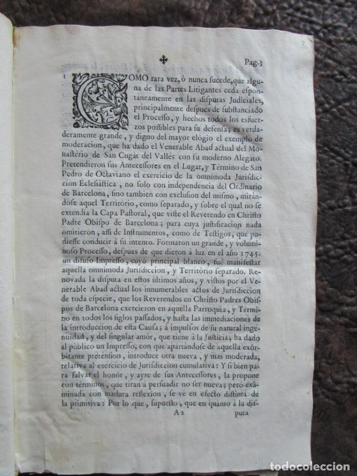 Libros antiguos: libro 17 actas y pleitos medianos del siglo XVIII pleito barcelona vic cataluña ... ver descripcion - Foto 4 - 146666006