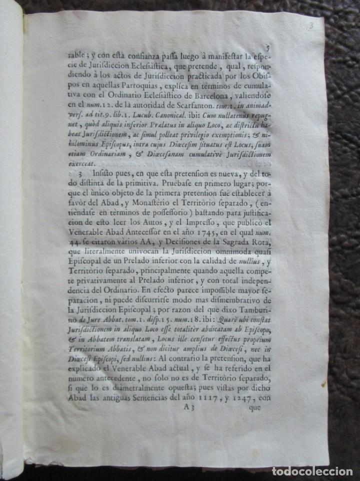 Libros antiguos: libro 17 actas y pleitos medianos del siglo XVIII pleito barcelona vic cataluña ... ver descripcion - Foto 5 - 146666006