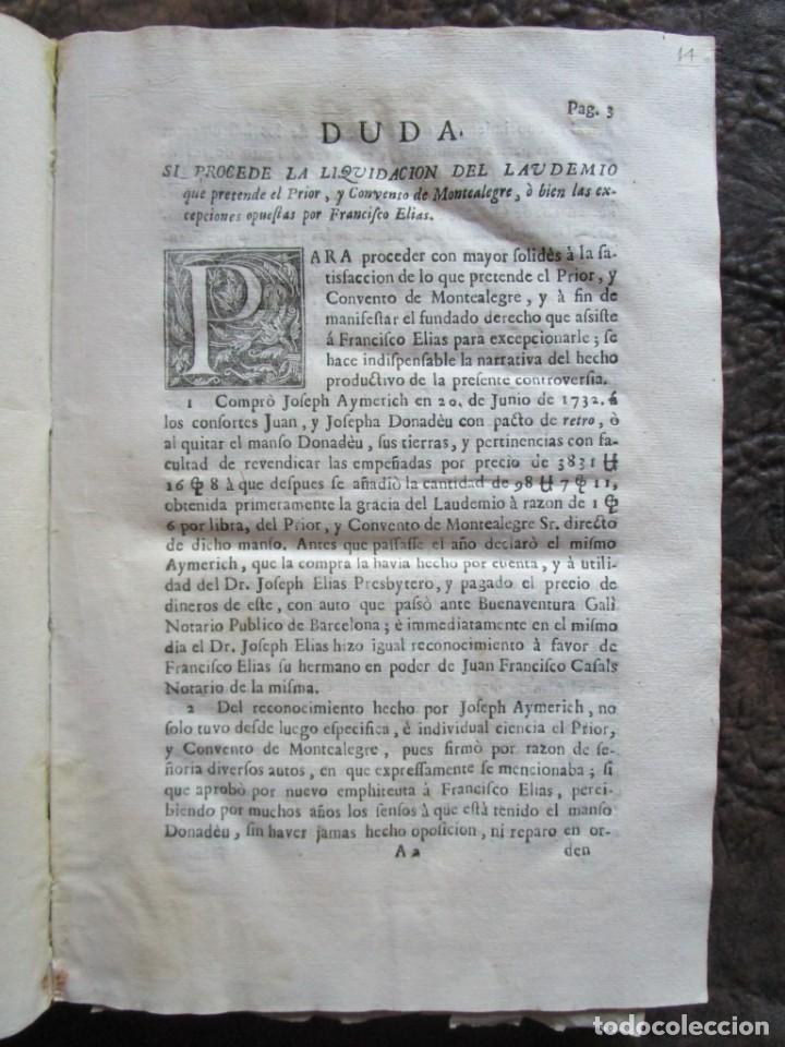 Libros antiguos: libro 17 actas y pleitos medianos del siglo XVIII pleito barcelona vic cataluña ... ver descripcion - Foto 7 - 146666006