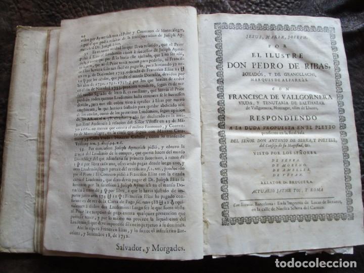 Libros antiguos: libro 17 actas y pleitos medianos del siglo XVIII pleito barcelona vic cataluña ... ver descripcion - Foto 8 - 146666006