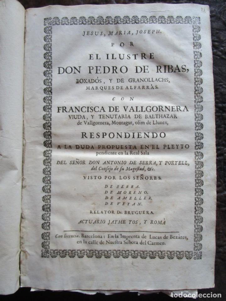 Libros antiguos: libro 17 actas y pleitos medianos del siglo XVIII pleito barcelona vic cataluña ... ver descripcion - Foto 9 - 146666006