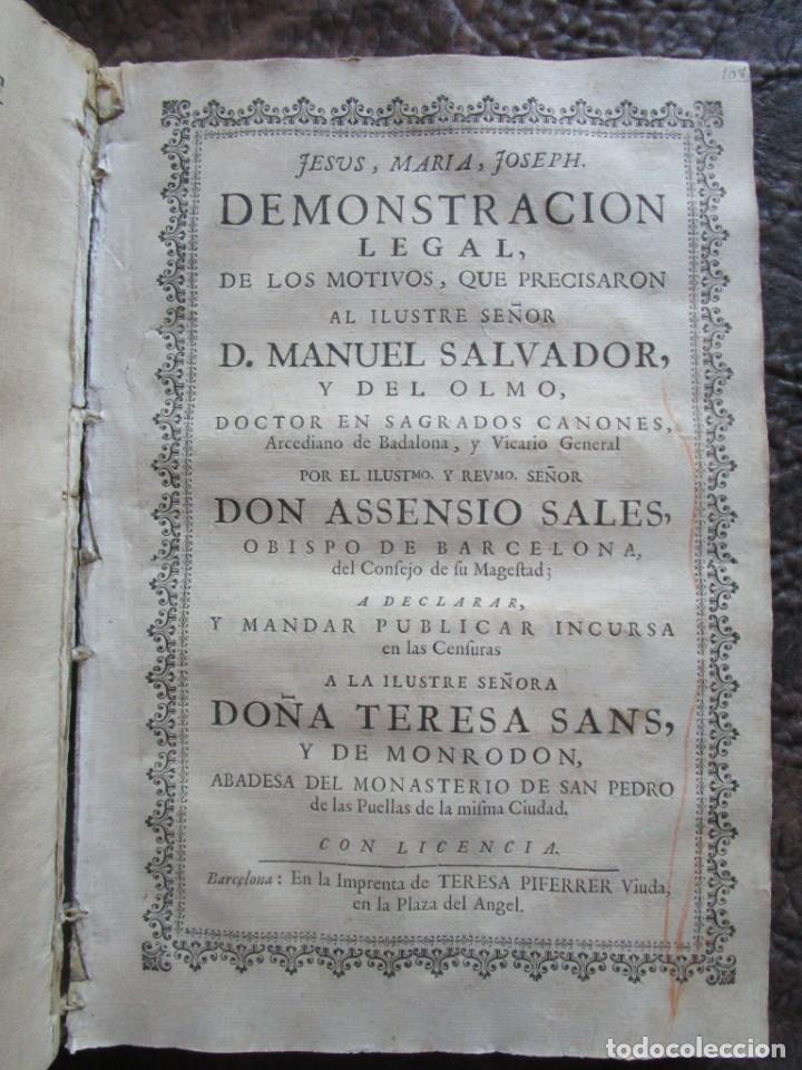 Libros antiguos: libro 17 actas y pleitos medianos del siglo XVIII pleito barcelona vic cataluña ... ver descripcion - Foto 12 - 146666006