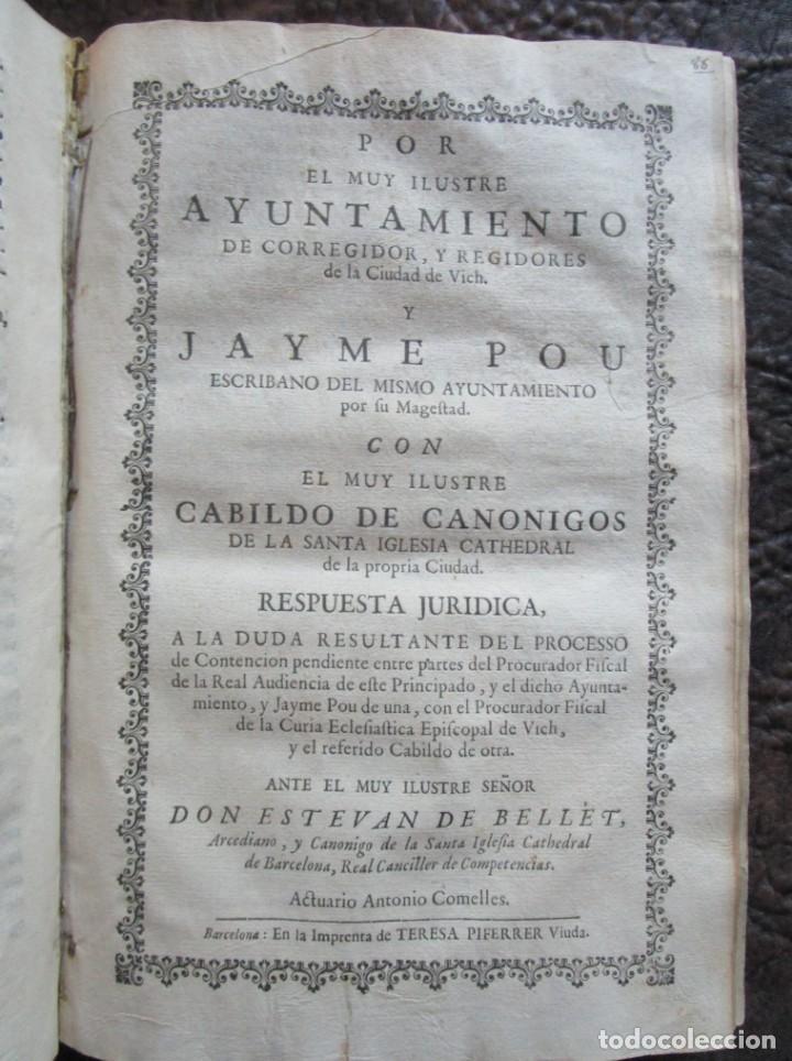 Libros antiguos: libro 17 actas y pleitos medianos del siglo XVIII pleito barcelona vic cataluña ... ver descripcion - Foto 13 - 146666006