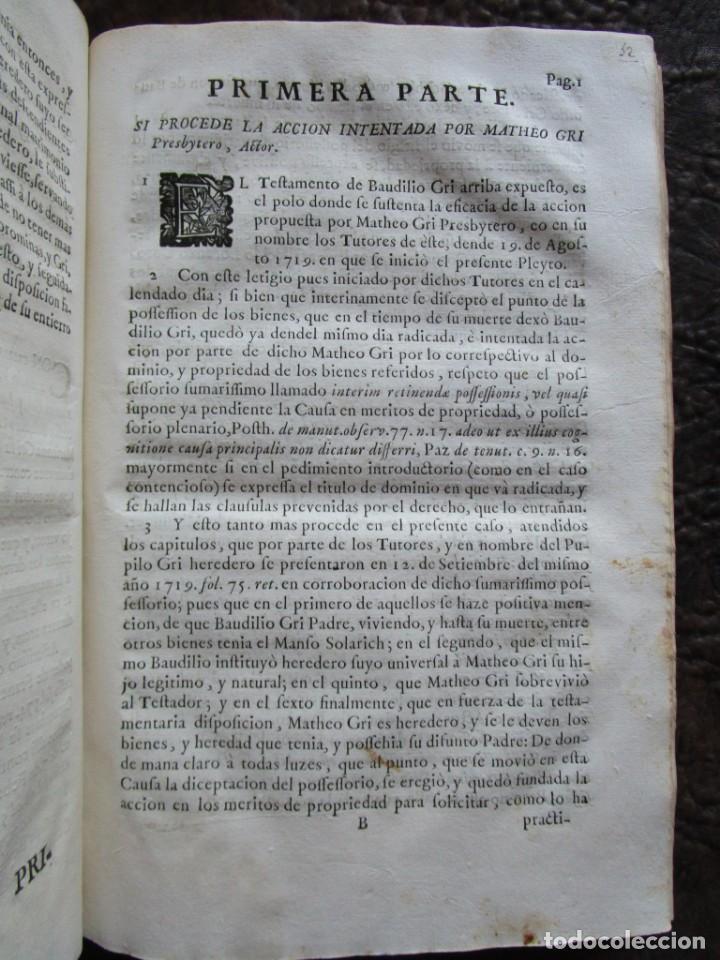 Libros antiguos: libro 17 actas y pleitos medianos del siglo XVIII pleito barcelona vic cataluña ... ver descripcion - Foto 15 - 146666006