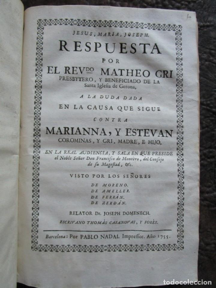 Libros antiguos: libro 17 actas y pleitos medianos del siglo XVIII pleito barcelona vic cataluña ... ver descripcion - Foto 16 - 146666006