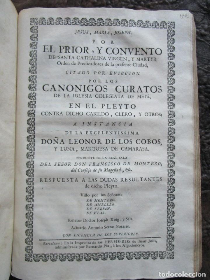 Libros antiguos: libro 17 actas y pleitos medianos del siglo XVIII pleito barcelona vic cataluña ... ver descripcion - Foto 18 - 146666006