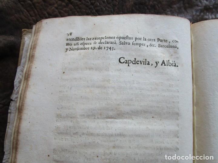 Libros antiguos: libro 17 actas y pleitos medianos del siglo XVIII pleito barcelona vic cataluña ... ver descripcion - Foto 19 - 146666006