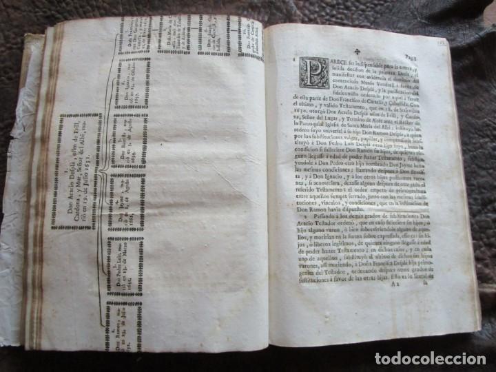 Libros antiguos: libro 17 actas y pleitos medianos del siglo XVIII pleito barcelona vic cataluña ... ver descripcion - Foto 20 - 146666006