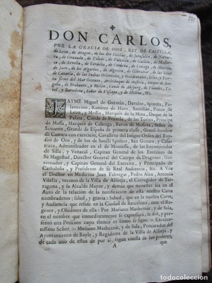 Libros antiguos: libro 17 actas y pleitos medianos del siglo XVIII pleito barcelona vic cataluña ... ver descripcion - Foto 28 - 146666006