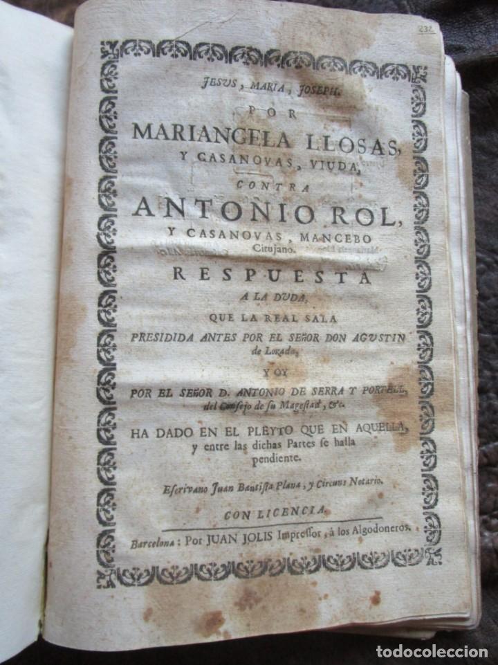 Libros antiguos: libro 17 actas y pleitos medianos del siglo XVIII pleito barcelona vic cataluña ... ver descripcion - Foto 30 - 146666006