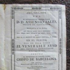 Libros antiguos: LIBRO 17 ACTAS Y PLEITOS MEDIANOS DEL SIGLO XVIII PLEITO BARCELONA VIC CATALUÑA ... VER DESCRIPCION. Lote 146666006