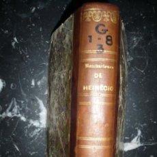 Libros antiguos: RECITACIONES DEL DERECHO CIVIL DE JUAN HEINECIO 1841 VALENCIA TOMO PRIMERO . Lote 146742914