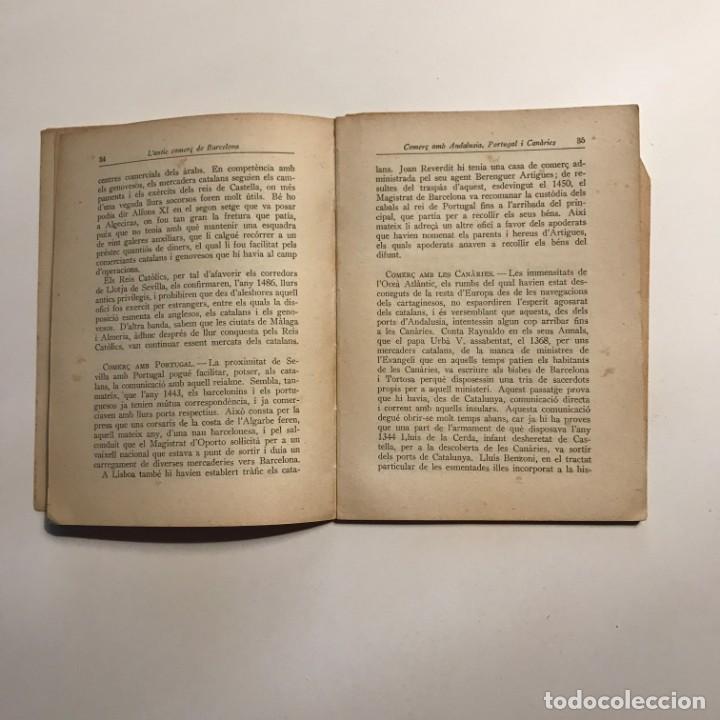 Libros antiguos: 1937 L´antic comerç de Barcelona * Comercio exterior de Barcelona durante edad Media - Foto 3 - 146957110