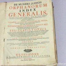 Libros antiguos: DE MUNERE JUDICIS / ORPHANORUM ... DIDACO GUERREIRO CAMACHO ABOYM, 1747. RARO. Lote 147150898