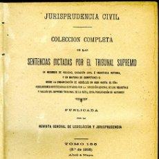 Libros antiguos: JURISPRUDENCIA CIVIL COL. COMPLETA SENTENCIAS DICTADAS POR EL TRIBUNAL SUPREMO. TOMO 136, 2º DE 1916. Lote 147903118