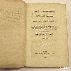 Libros antiguos: 1863, ESCENAS CONTEMPORÁNEAS, MANUEL OVILO Y OTERO. PERTENECIÓ A DON PEDRO MARTÍNEZ DE VILLALTA. Lote 147951234