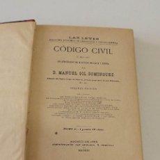 Libros antiguos: 1889, CÒDIGO CIVIL, MANUEL GIL DOMÍNGUEZ. Lote 147952142