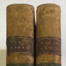 Old books - GERARDI NOODT. OPERA OMNIA. RECOGNITA, AUCTA, EMENDATA MULTIS IN LOGIS... 1767. 2 TOMOS. PERGAMINO - 148044274