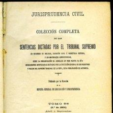 Libri antichi: JURISPRUDENCIA CIVIL COL. COMPLETA SENTENCIAS DICTADAS POR EL TRIBUNAL SUPREMO TOMO 98 (2º DE 1904). Lote 148326158