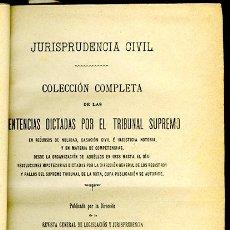 Libros antiguos: JURISPRUDENCIA CIVIL COL. COMPLETA SENTENCIAS DICTADAS POR EL TRIBUNAL SUPREMO TOMO 100 (1º DE 1905). Lote 148326930