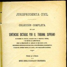 Libros antiguos: JURISPRUDENCIA CIVIL COL. COMPLETA SENTENCIAS DICTADAS POR EL TRIBUNAL SUPREMO TOMO 102 (3º DE 1905). Lote 148327570