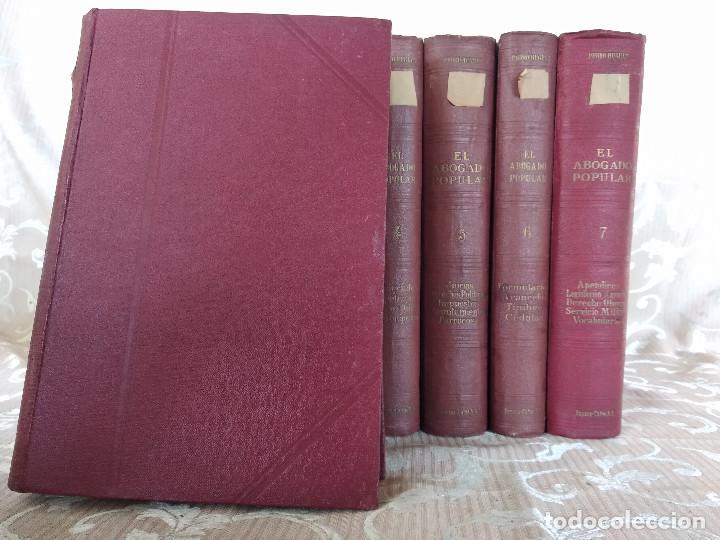 Libros antiguos: S. XIX, Impresionante enciclopedia El Abogado Popular, Huguet y Campaña, Barcelona, gran formato - Foto 3 - 148483702