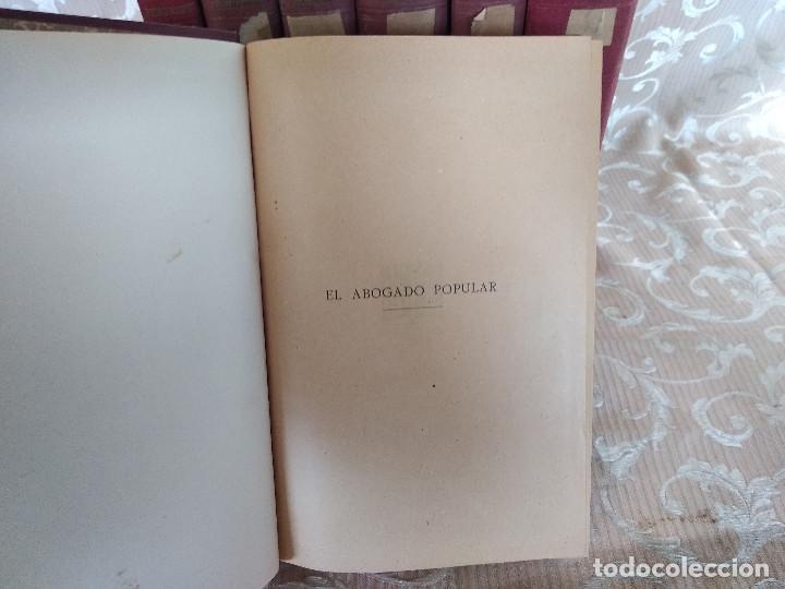Libros antiguos: S. XIX, Impresionante enciclopedia El Abogado Popular, Huguet y Campaña, Barcelona, gran formato - Foto 7 - 148483702