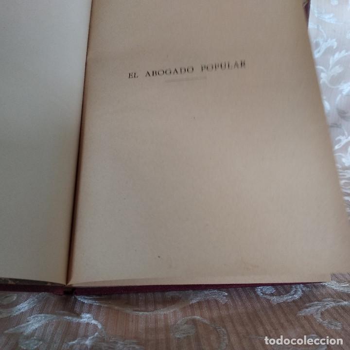 Libros antiguos: S. XIX, Impresionante enciclopedia El Abogado Popular, Huguet y Campaña, Barcelona, gran formato - Foto 27 - 148483702