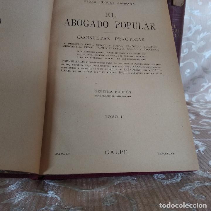 Libros antiguos: S. XIX, Impresionante enciclopedia El Abogado Popular, Huguet y Campaña, Barcelona, gran formato - Foto 28 - 148483702