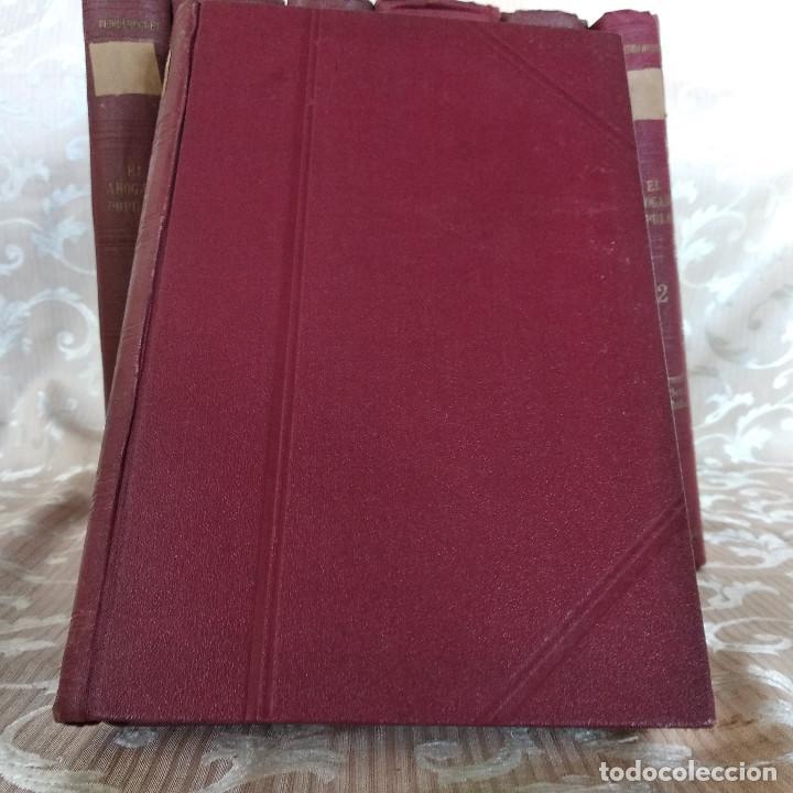 Libros antiguos: S. XIX, Impresionante enciclopedia El Abogado Popular, Huguet y Campaña, Barcelona, gran formato - Foto 31 - 148483702