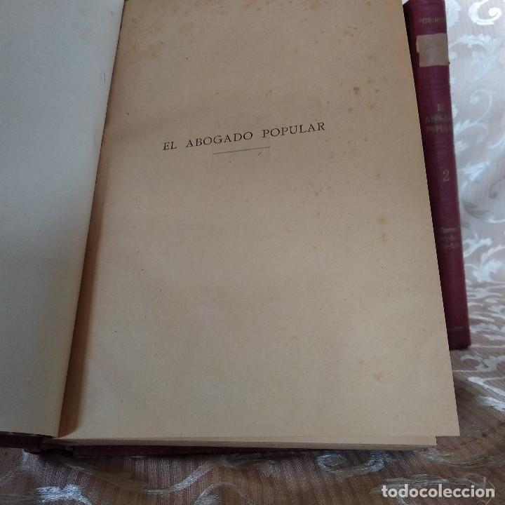 Libros antiguos: S. XIX, Impresionante enciclopedia El Abogado Popular, Huguet y Campaña, Barcelona, gran formato - Foto 34 - 148483702