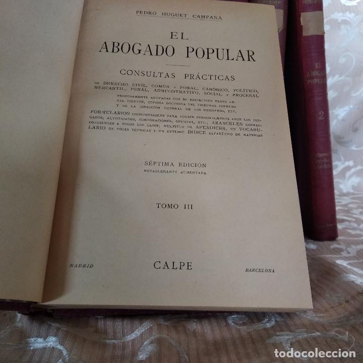 Libros antiguos: S. XIX, Impresionante enciclopedia El Abogado Popular, Huguet y Campaña, Barcelona, gran formato - Foto 35 - 148483702