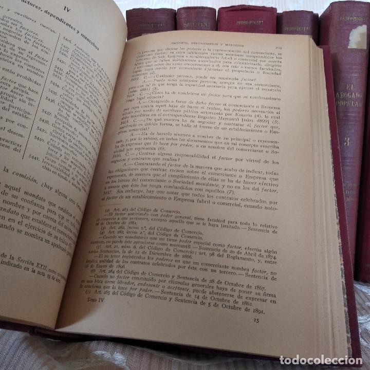 Libros antiguos: S. XIX, Impresionante enciclopedia El Abogado Popular, Huguet y Campaña, Barcelona, gran formato - Foto 42 - 148483702