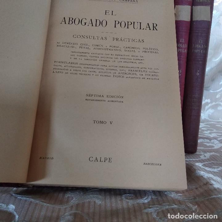 Libros antiguos: S. XIX, Impresionante enciclopedia El Abogado Popular, Huguet y Campaña, Barcelona, gran formato - Foto 46 - 148483702