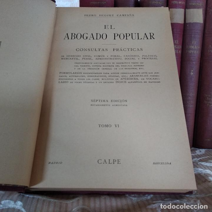 Libros antiguos: S. XIX, Impresionante enciclopedia El Abogado Popular, Huguet y Campaña, Barcelona, gran formato - Foto 51 - 148483702