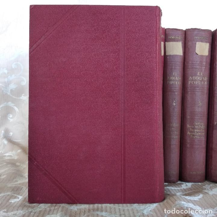 Libros antiguos: S. XIX, Impresionante enciclopedia El Abogado Popular, Huguet y Campaña, Barcelona, gran formato - Foto 54 - 148483702