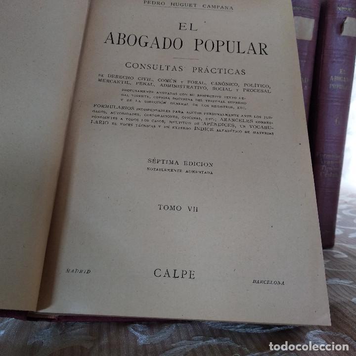 Libros antiguos: S. XIX, Impresionante enciclopedia El Abogado Popular, Huguet y Campaña, Barcelona, gran formato - Foto 56 - 148483702