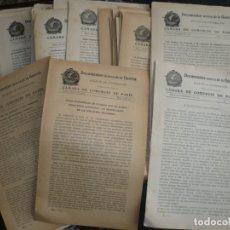 Libros antiguos: 123 BOLETINES CAMARA DE COMERCIO DE PARIS ACERCA DE LA GUERRA 1914--1919 PARIS . Lote 149580666