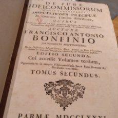 Libros antiguos: SIGLO XVIII. LOTE DE 3 LIBROS. LATÍN. ENVÍO GRATIS. Lote 149723506