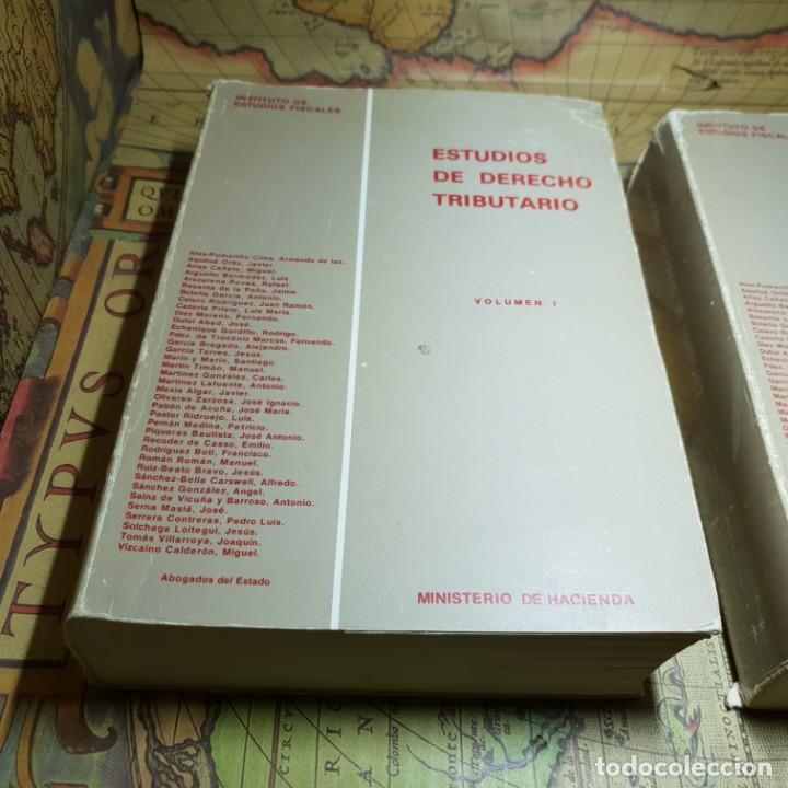 ESTUDIOS DE DERECHO TRIBUTARIO. TOMOS I Y II. MINISTERIO DE HACIENDA 1979. (Libros Antiguos, Raros y Curiosos - Ciencias, Manuales y Oficios - Derecho, Economía y Comercio)