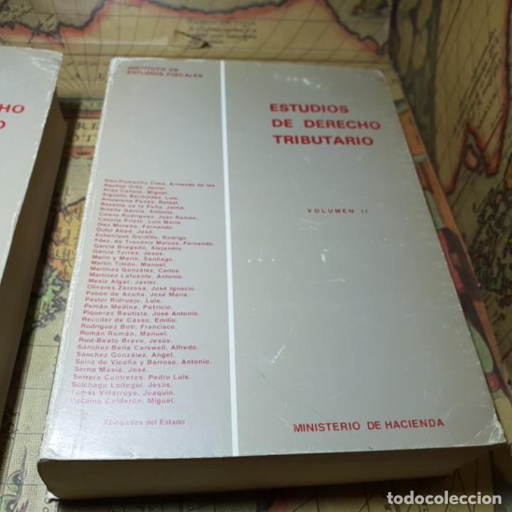 Libros antiguos: ESTUDIOS DE DERECHO TRIBUTARIO. TOMOS I Y II. MINISTERIO DE HACIENDA 1979. - Foto 2 - 149953302