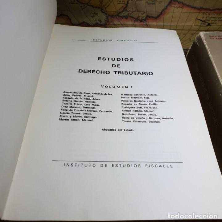 Libros antiguos: ESTUDIOS DE DERECHO TRIBUTARIO. TOMOS I Y II. MINISTERIO DE HACIENDA 1979. - Foto 4 - 149953302