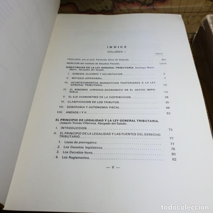 Libros antiguos: ESTUDIOS DE DERECHO TRIBUTARIO. TOMOS I Y II. MINISTERIO DE HACIENDA 1979. - Foto 6 - 149953302